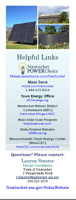 Local Solar Rebate Program Nantucket Ma Official Website