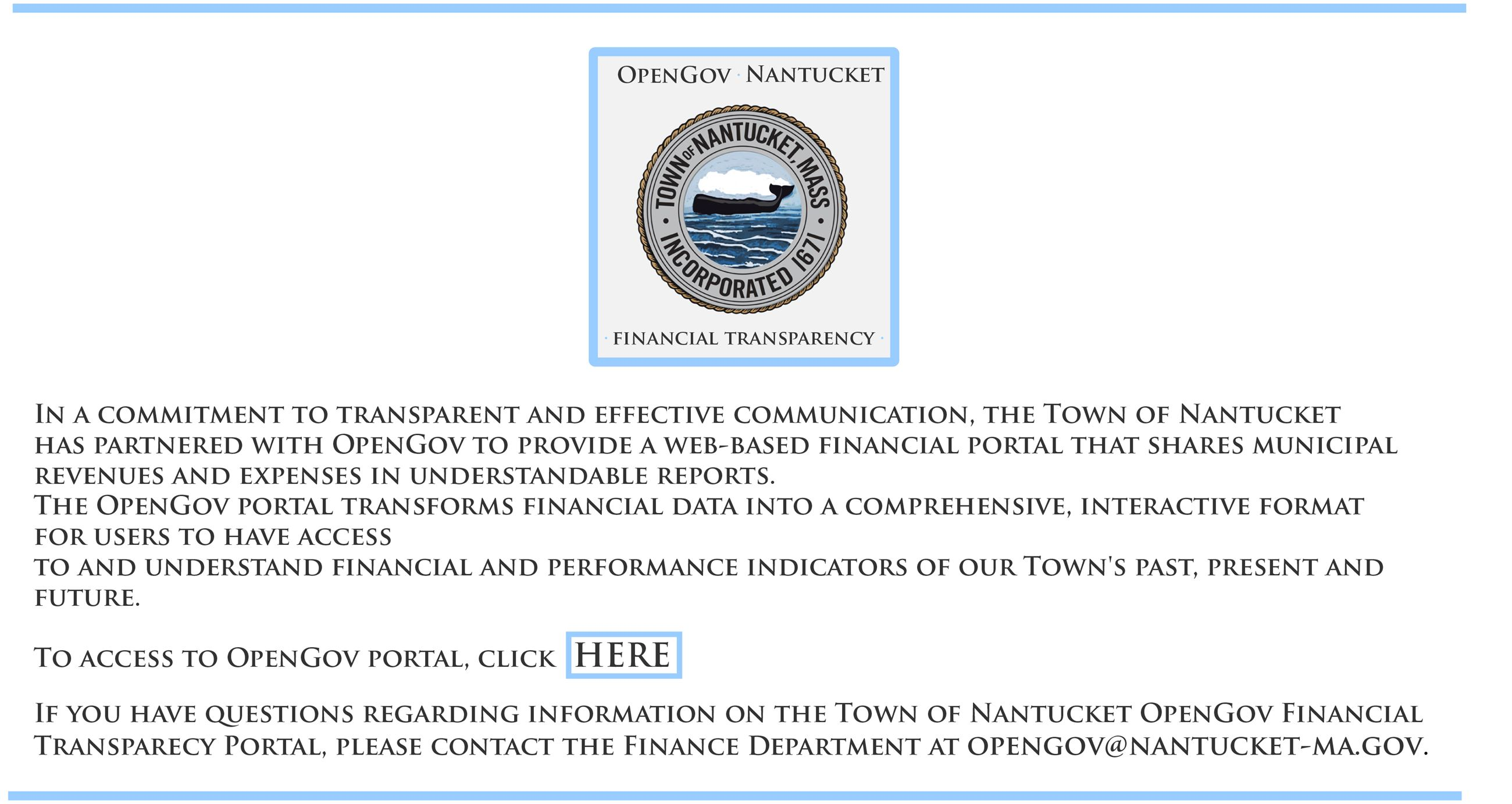 OpenGov Nantucket