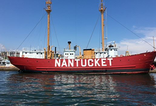 Nantucket boat in water