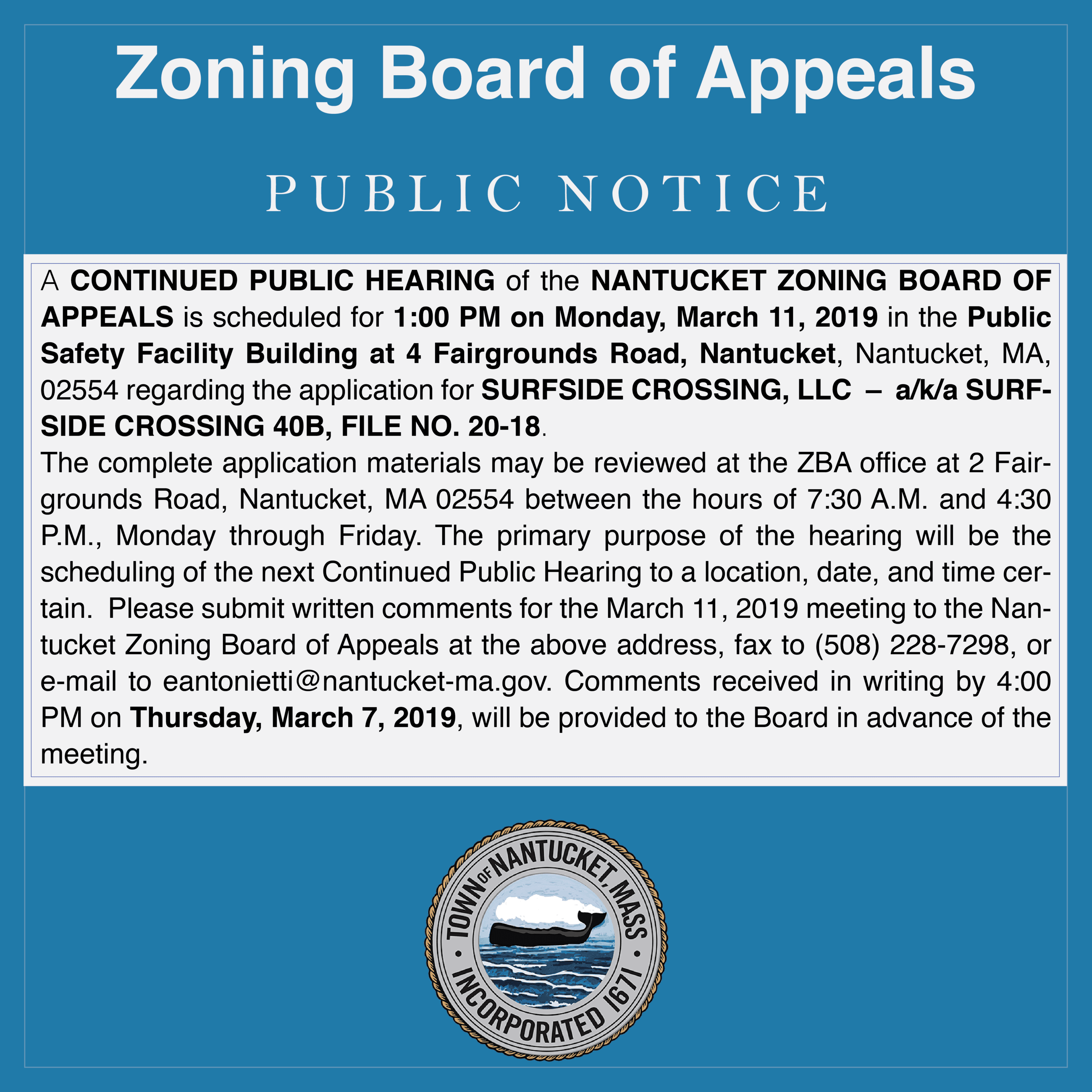 zba public hearing notice MAR