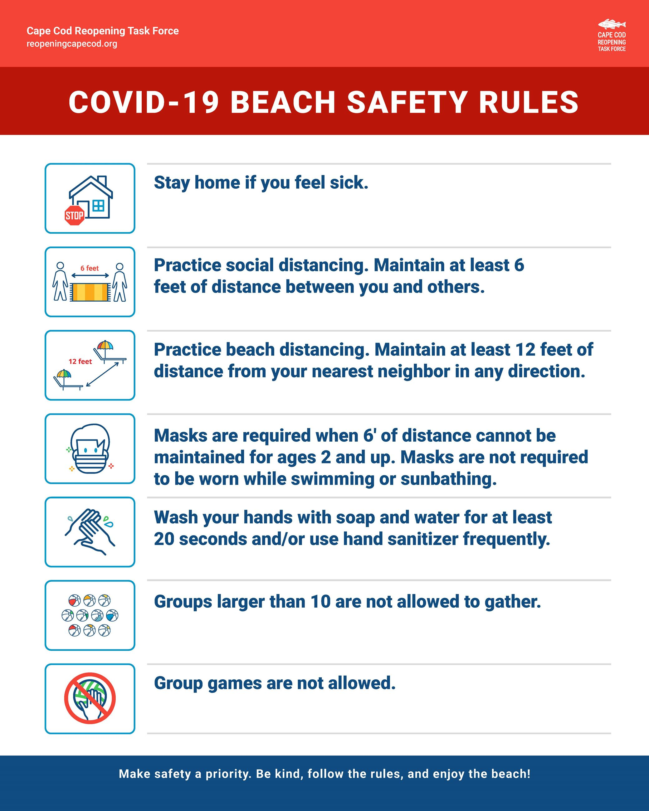 Covid-19 Beach Guide sign