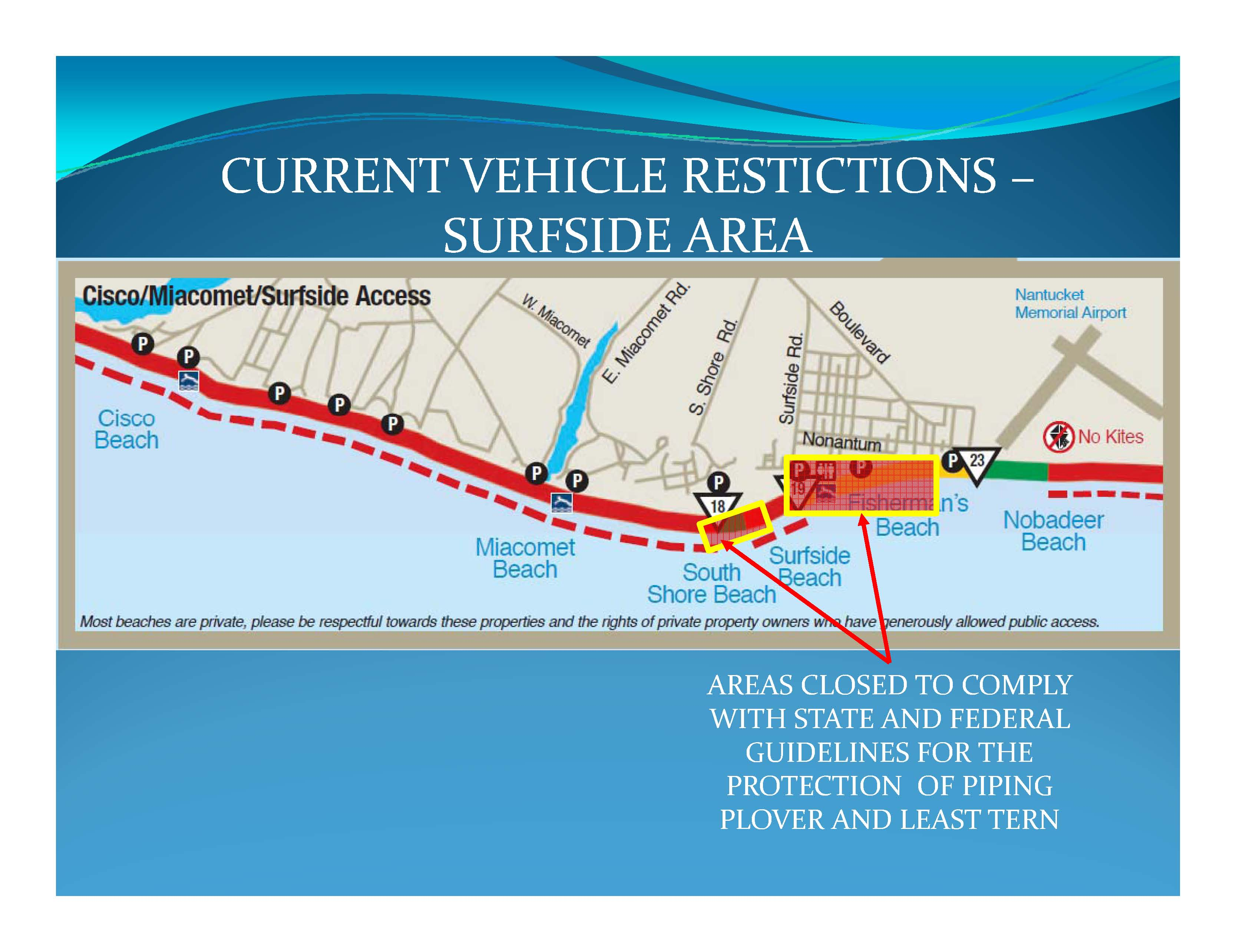 vehicle restrictions 5-28-2014 surfside area