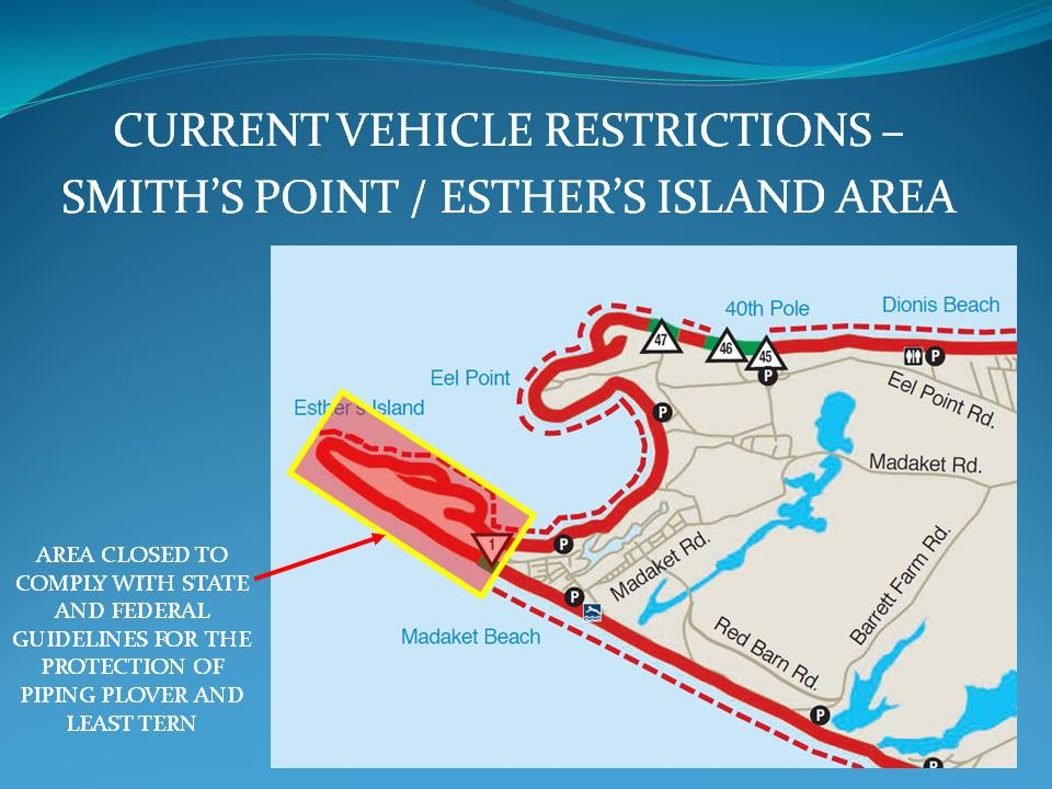 Smiths Point-Esthers Island Vehicle Restrictions