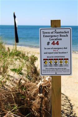 Beach Access Signs